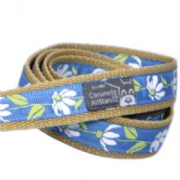 DOG LEAD - RETRO DAISIES ON BLUE